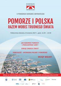Plakat X Pomorskiego Kongresu Obywatelskiego