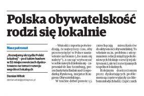 Polska obywatelskość rodzi się lokalnie