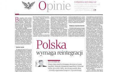Polska wymaga reintegracji - Kongres Obywatelski