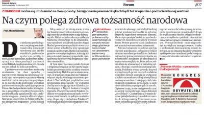 Artykuł prof. Michała Bilewicza Dziennik Bałtycki