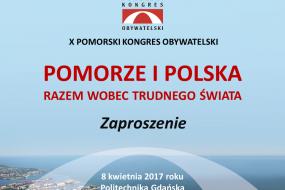 Zaproszenie na X Pomorski Kongres Obywatelski