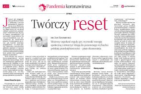 Twórczy reset - artykuł dr. Jana Szomburga w Dzienniku Rzeczpospolita